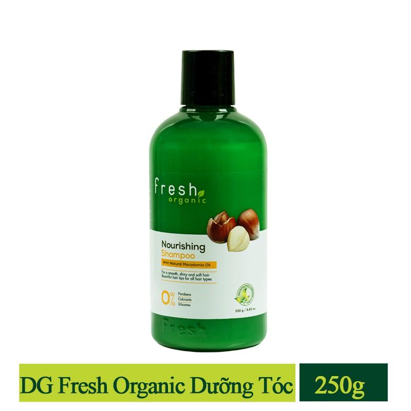 Hình ảnh [FMSCCHOLIDAY - GIẢM 30k - ĐƠN TỪ 150k] Dầu gội Fresh Organic Maccadamia Oil 250g chính hãng-0