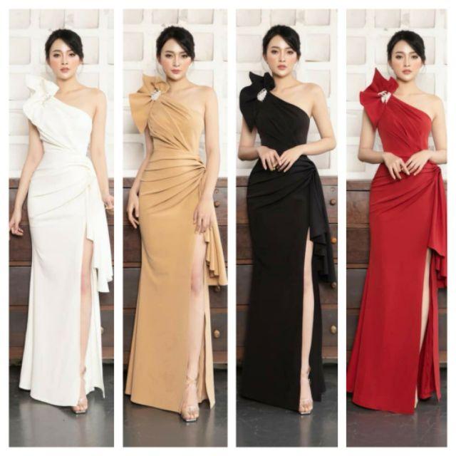 Đầm dạ hội xẻ đính tag cao cấp