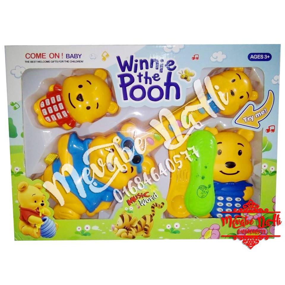 Bộ 3 Đàn Gấu Pooh: Dùng pin (Không kèm pin)