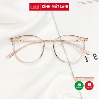 Gọng kính cận nam nữ dẻo dáng tròn Lani 513 - Lắp kính mắt theo yêu cầu thumbnail