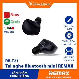 [Mã ELFLASH5 giảm 20K đơn 50K] Tai nghe Bluetooth mini REMAX T21- Hàng chính hãng