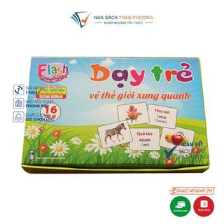 Bộ thẻ Flashcard Việt Hà chủ đề Dạy trẻ về thế giới xung quanh (12x16cm) song ngữ Anh Việt phương pháp Glenn Doman