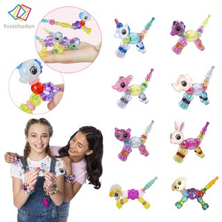FCD Cute DIY Animal Elasticity Twisted Magic Tricks Kids Toys Mascot Bracelets Gifts