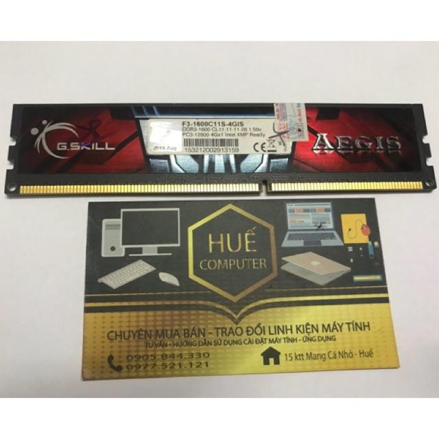 [Nhập ELCL30K hoàn 30K xu]FREESHIP ĐƠN 99K_DDR3 4GB G-SKILL BUS 1600 CHO MÁY TÍNH BÀN (PC) Giá chỉ 265.000₫