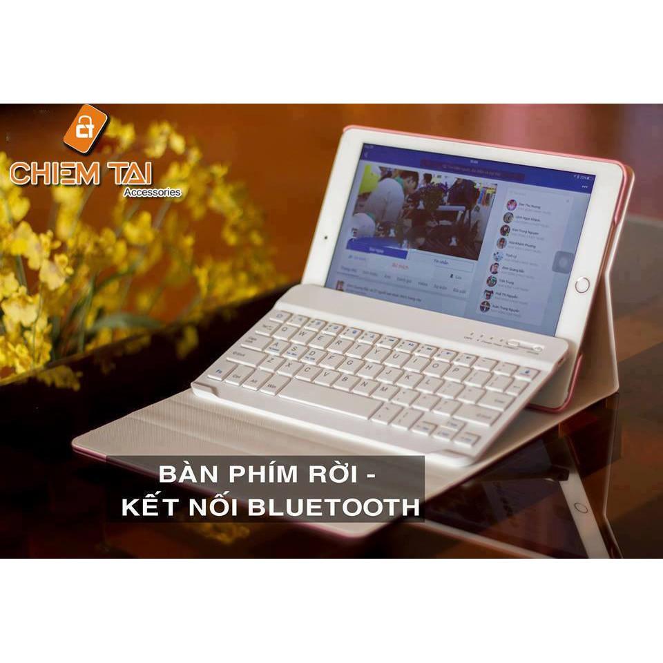 Bao da bàn phím bluetooth cho Ipad Mini 4 (Xoay 360 độ)