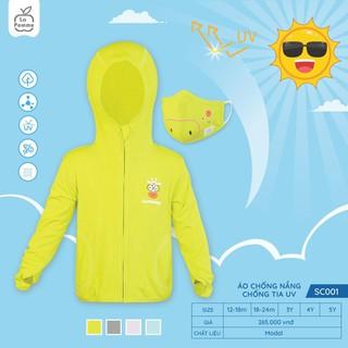 Set bộ áo và khẩu trang trẻ em chống nắng chống tia UV dành cho bé gái bé trai La Pomme – SC001