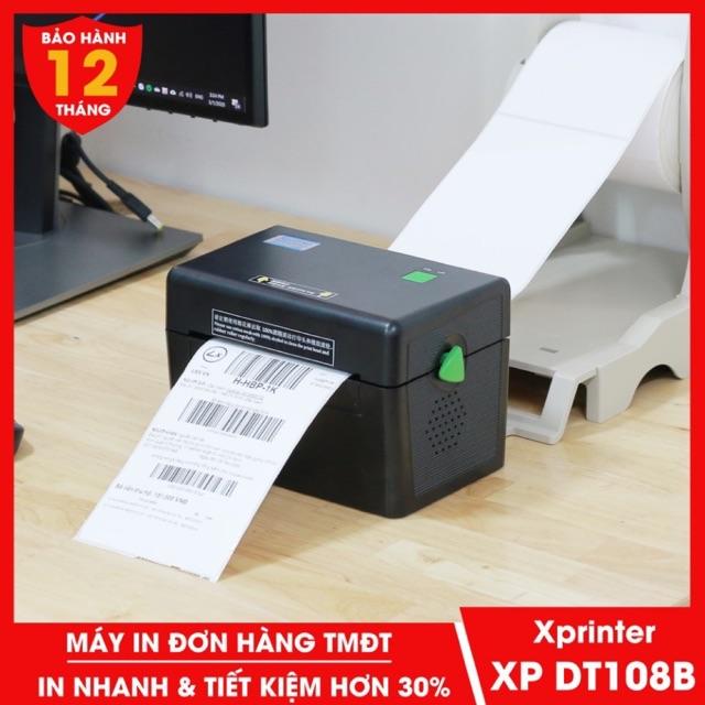 ( HÀNG CHÍNH HÃNG) Máy In Đơn Hàng Xprinter DT108B- In Đơn Hàng Shopee Và Các Sàn TMDT 100x150mm