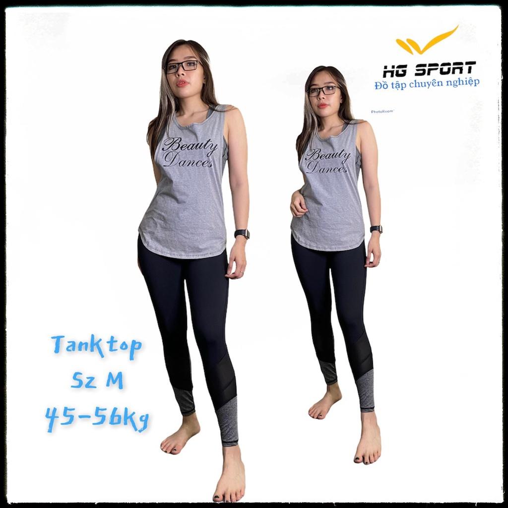 Mặc gì đẹp: Năng động với Tanktop tập Gym, Zumba, thể thao nữ, áo ba lỗ dáng rộng khoét sâu cá tính TT801