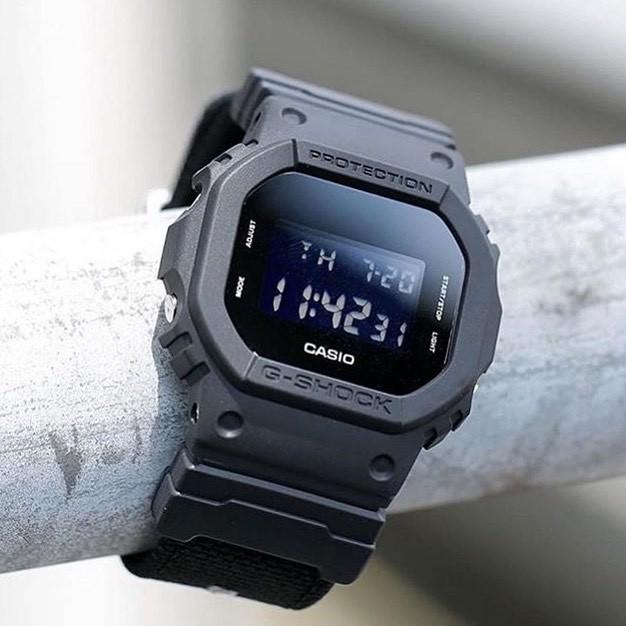 Đồng hồ Nam dây nhựa Casio G-Shock DW-5600BB-1 chính hãng bảo hành 5 năm Pin tọn đời