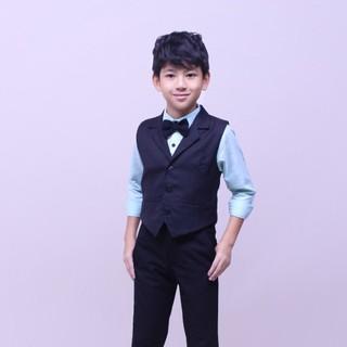 Áo gile bé trai sang trọng để đi tiệc, chụp hình và trong các dịp đặt biệt, chất liệu thoải mái mềm min- Jadiny