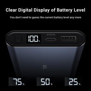 Hình ảnh TOPK I1006 Sạc Dự Phòng Cho iPhone Huawei Samsung Xiaomi Oppo Vivo Realme Hai Cổng Dung Lượng 10000mAh Có Màn Hình Điện Tử-3