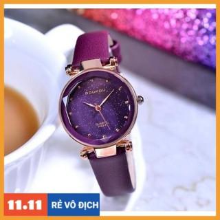 [Hàng chính hãng] [NEW ] Đồng hồ nữ Doukou 3422 hàng chính hãng dây da mặt sao trời thumbnail