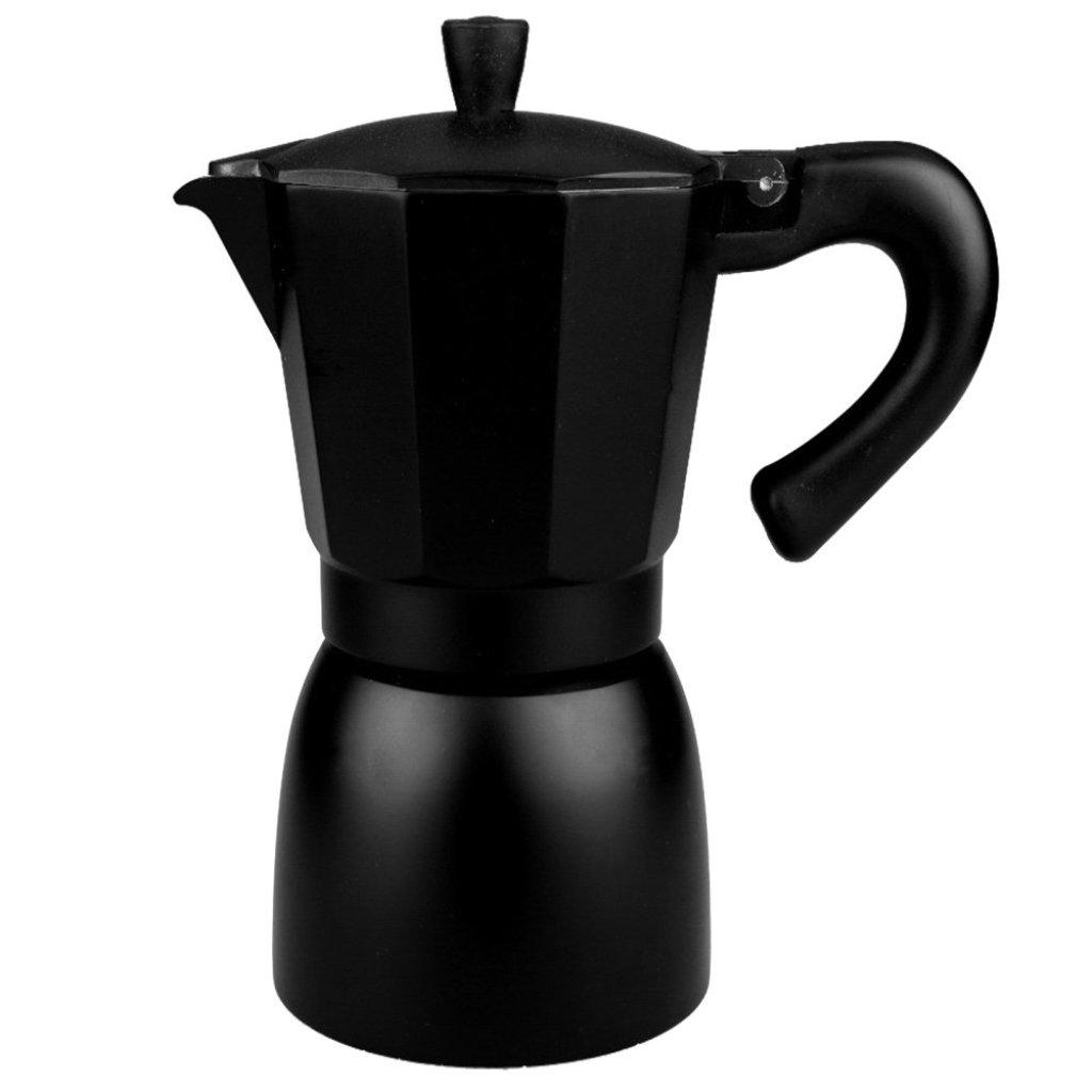 Kitchen ที่ต้มกาแฟ กาต้มกาแฟ หม้อต้มกาแฟสด เอสเพรสโซ่ ขนาด 6 ถ้วย สีดำ By Scanproducts Moka Pot 6 cup Blackitchen ที่ต้ม