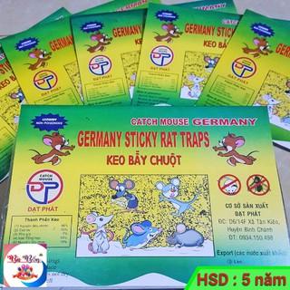 [Keo XỊN] Keo dính chuột GERMANY hàng chất lượng cao | Miếng keo dán chuột (Đã có mồi) | Keo bẫy chuột