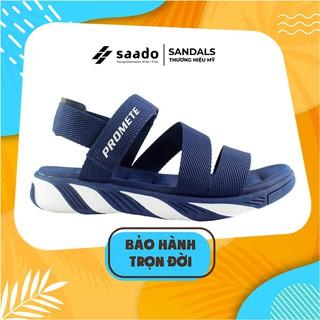 Giày Dép Sandal SAADO - SP03 - Xanh Trắng