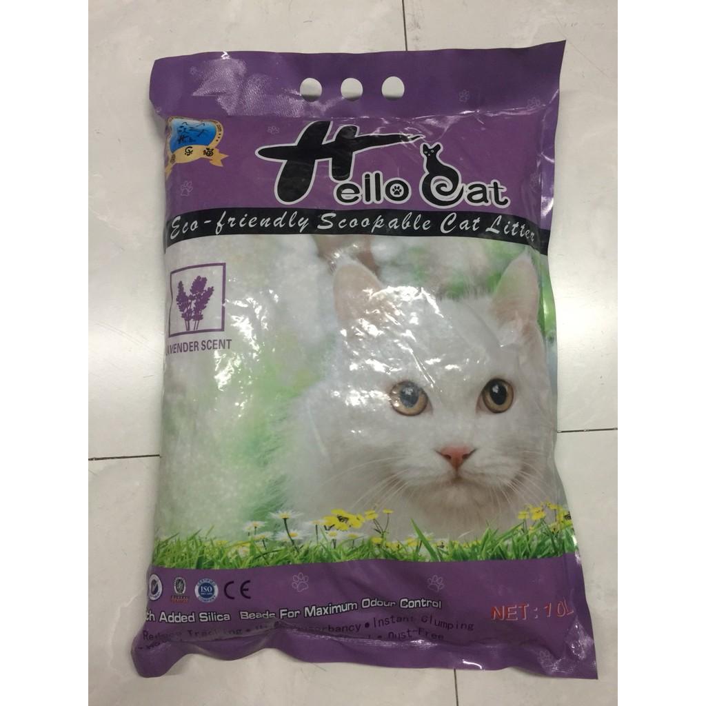Cát vệ sinh cho mèo HelloCat hương lavender ( dạng sỏi )