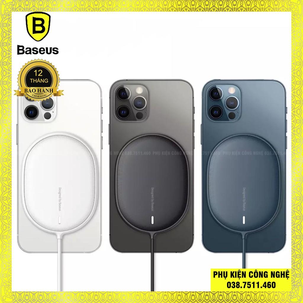 Sạc không dây nam châm 15W cho Iphone 12 Baseus Light Magnetic