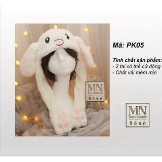 Mũ tai thỏ nhúc nhích cực yêu