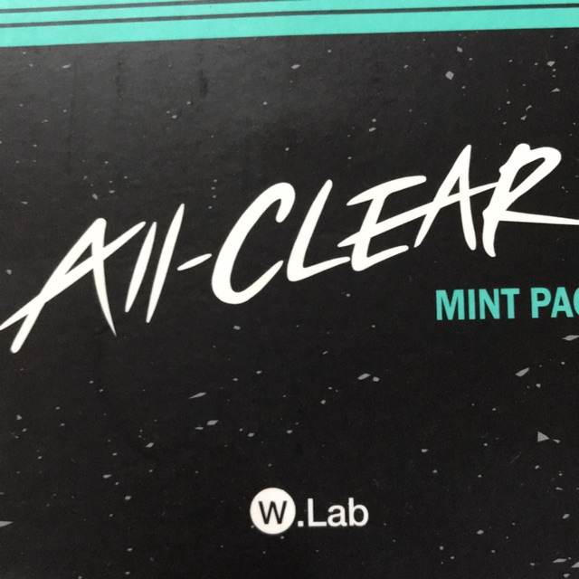 All clear mint pack mask