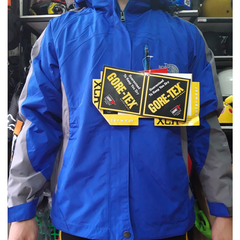 Áo khoác đờ north face 2 lớp chống nước màu xanh dương đậm - Áo khoác phao