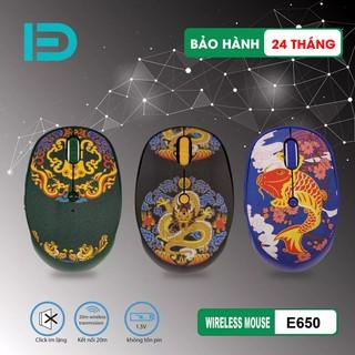 [ Chính hãng ] Chuột không dây cute FD E650 thiết kế tatoo cực ngầu – Bảo hành 24 tháng