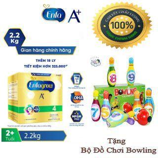 [Tặng Bộ Đồ Chơi Bowling ]Sữa Bột Enfagrow 4 Hộp Giấy 2,2 kg Date Mới