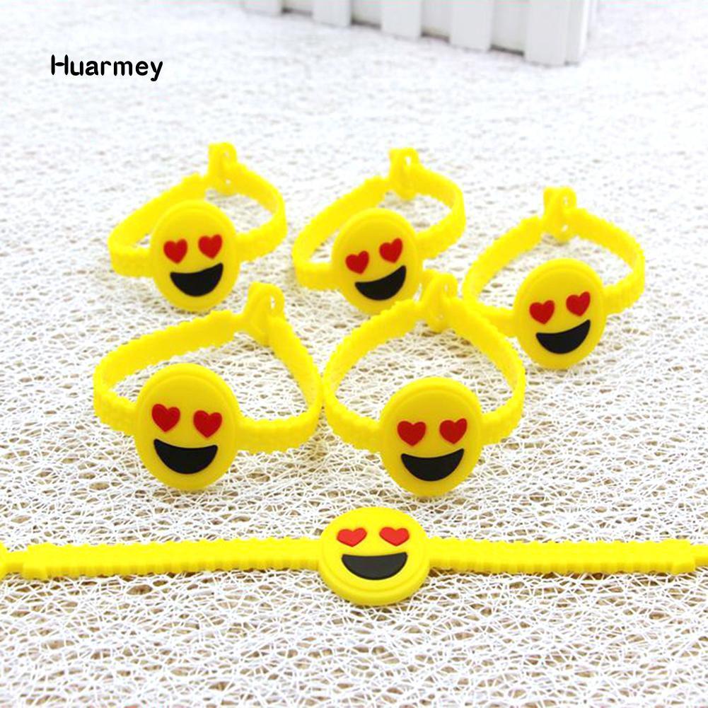 Vòng tay nhựa dẻo hình mặt cười đáng yêu
