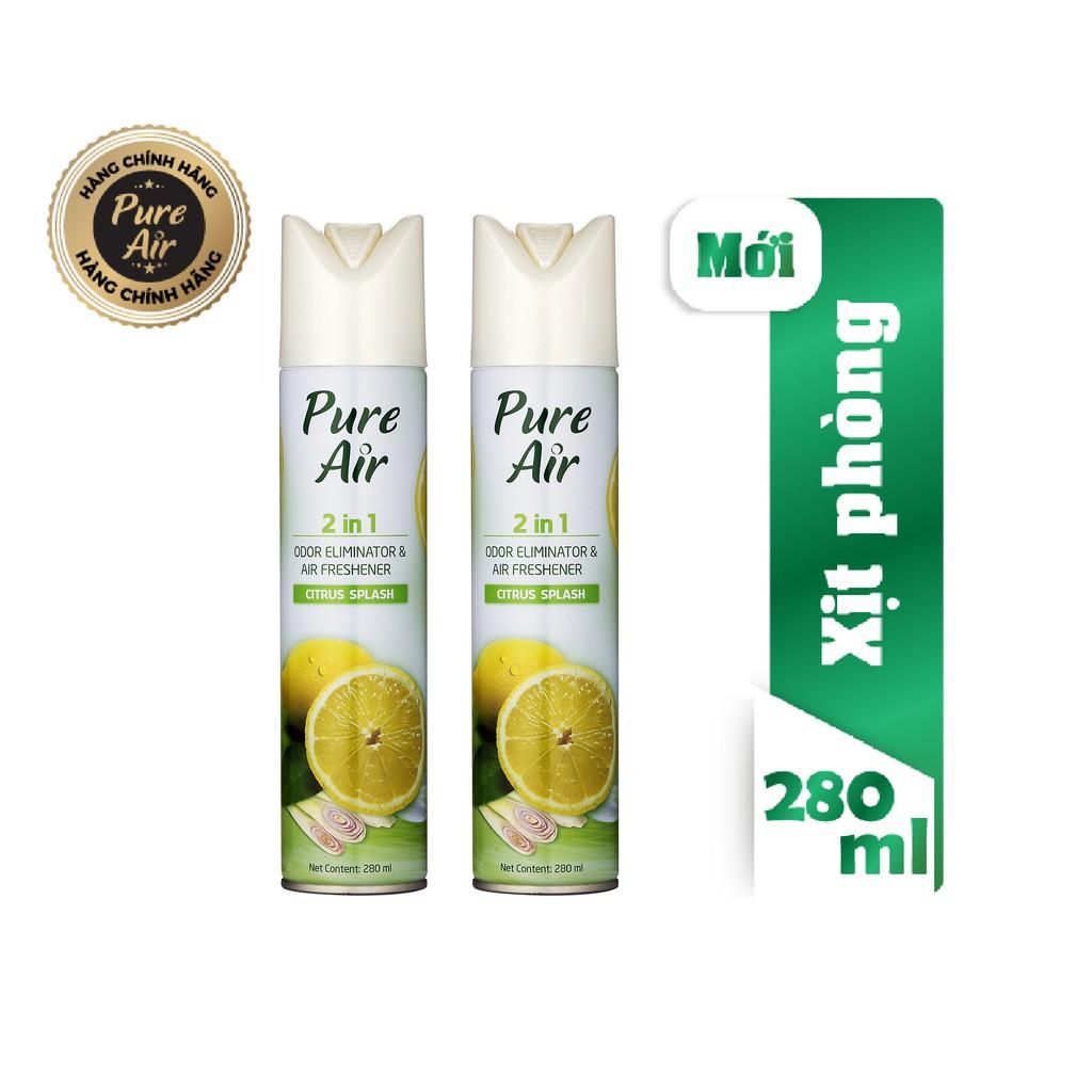 Combo 2 Nước hoa xịt phòng Pure Air-Citrus Splash 280ml - HÀNG CHÍNH HÃNG