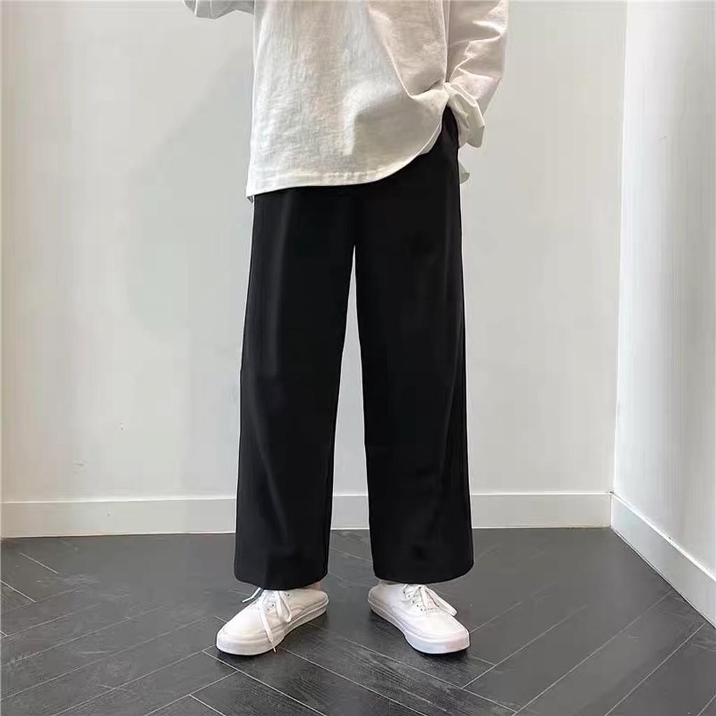 Mặc gì đẹp: [Mã SKAMPUSH10 giảm 10% đơn 200K] Quần ống rộng Lylyshop, quần vải ống suông cạp chun lưng cao basic