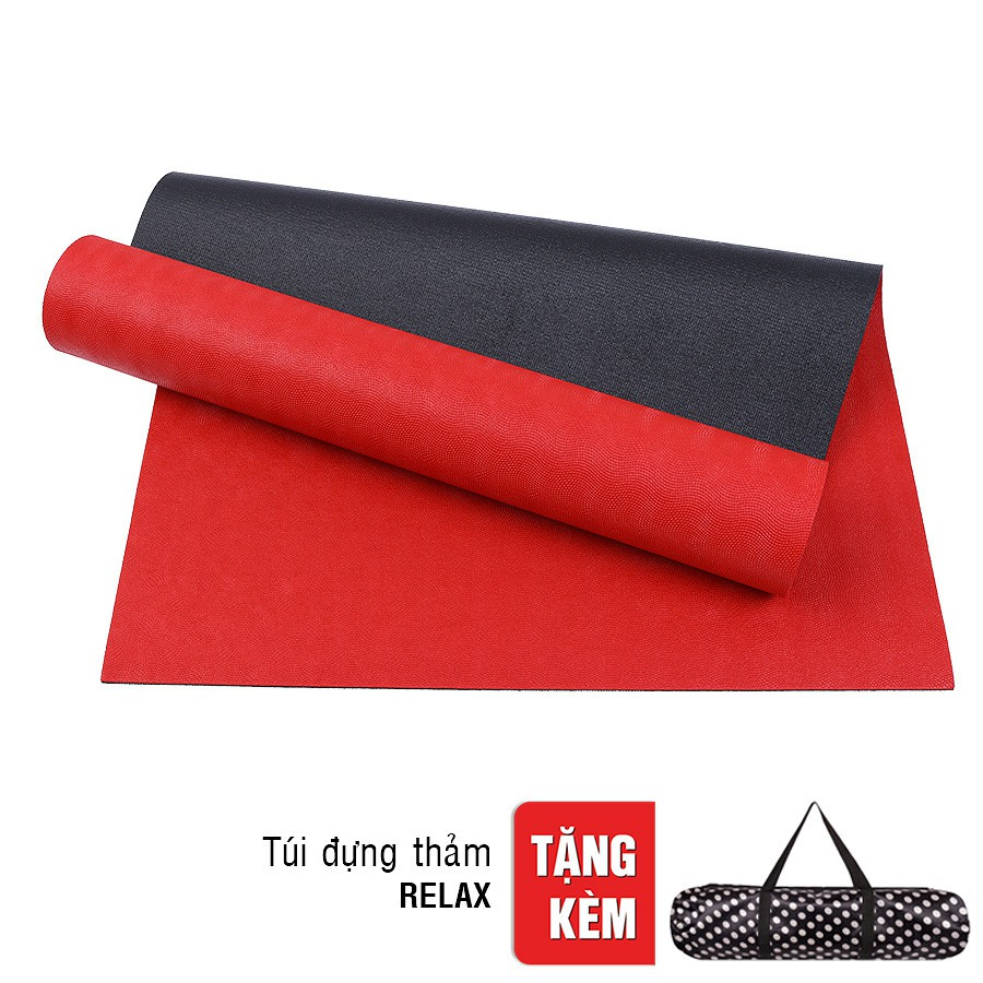 Thảm Tập yoga TPE Relax 2 lớp 6mm màu đỏ