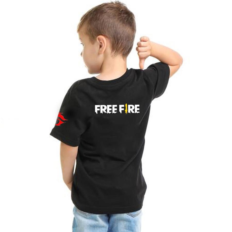 Áo thun phông trẻ em Free Fire chất cotton mềm mịn