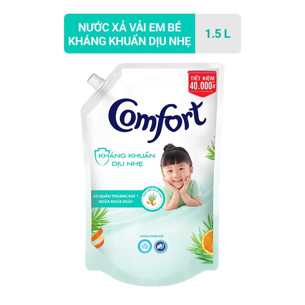 Nước Xả Vải Comfort Kháng Khuẩn Dịu Nhẹ Túi 1.5L