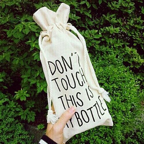 Túi vải cavas đựng bình nước,đựng đồ tiện dụng