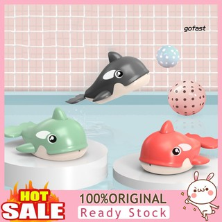 FASTE_Summer Cute Wind Up Clockwork Water Spray Whale Baby Swimming Play Game Bath Toy