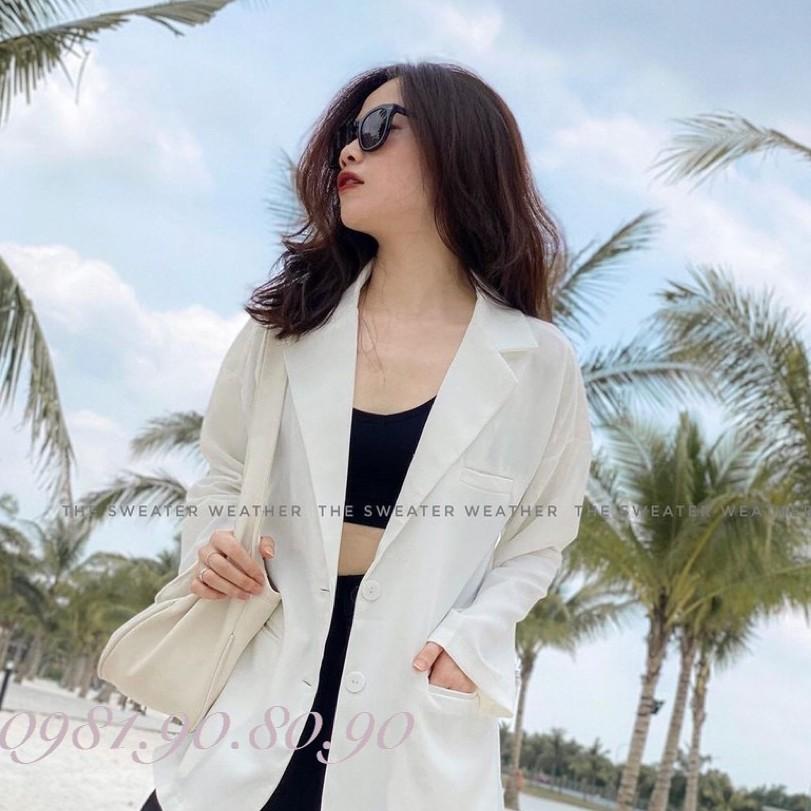 áo blazer nữ dáng suông rộng chất vải cao cấp kiểu hàn quốc