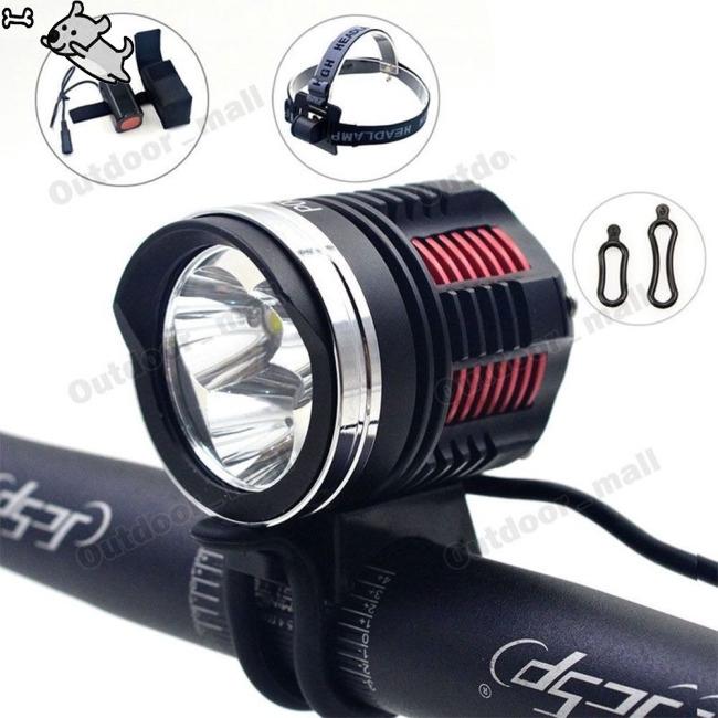 Bicycle Lights P08 3L2 T6 LED Headlamp Night Riding CREE L2 Mountain Bike Headlight
