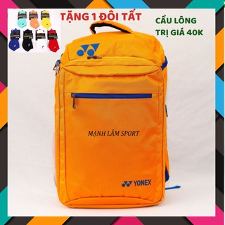 """[TẶNG TẤT] Balo thể thao cầu lông Yonex BAG006 cam chuyên dụng cầu lông, nhỏ gọn, tiện lợi, nhiều ngăn, mẫu mã đa dạng """""""