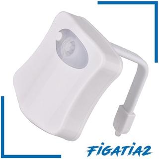 [FIGATIA2] New Toliet Bathroom Night Lamp Motion Sensor Magic Seat 8 Colors Bowl Light