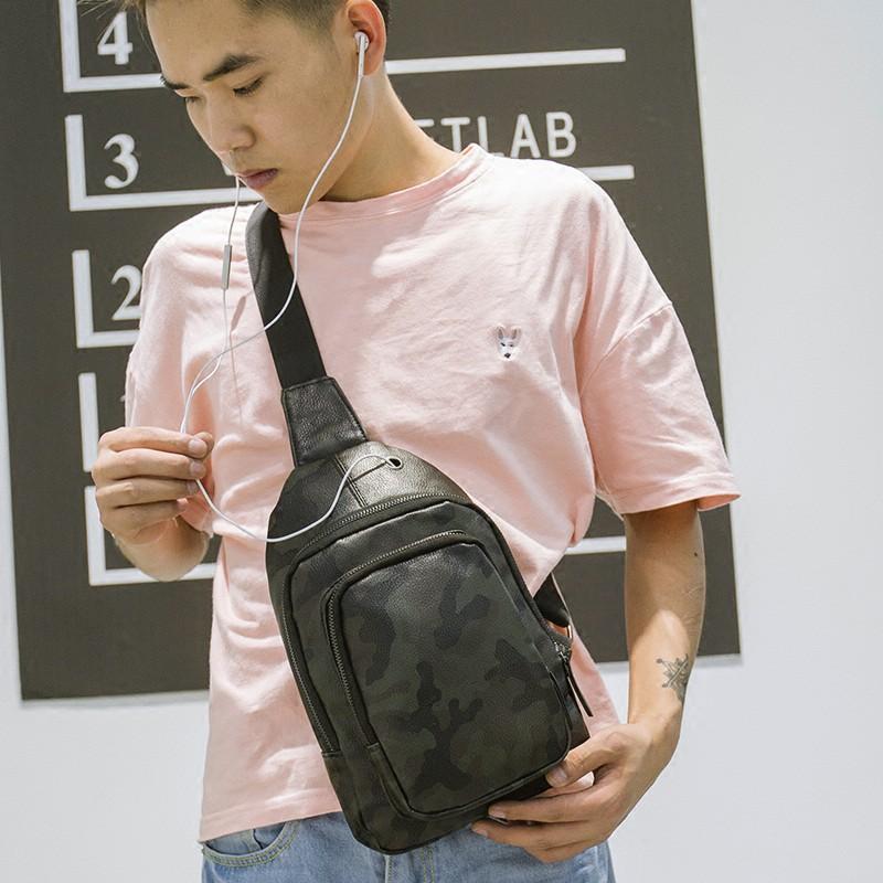 กระเป๋าแบรนด์ Tide ผู้ชายกระเป๋าหน้าอกชายกระเป๋าสะพายกระเป๋าชายหนุ่มกระเป๋าเป้สะพายหลังขนาดเล็กถุงชายกระเป๋า Messenger ไ