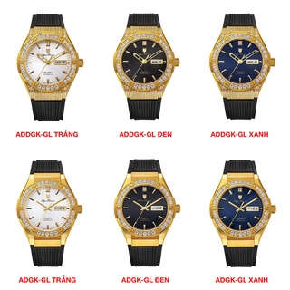 Đồng hồ nam dây cao su Olym Pianus OP990 OP990-45 OP990-45ADGK-GL chính hãng mặt kính chống xước thumbnail