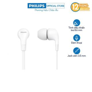 Tai nghe nhét tai Philips TAE1105WT/00 - Màu trắng - Hàng Chính Hãng