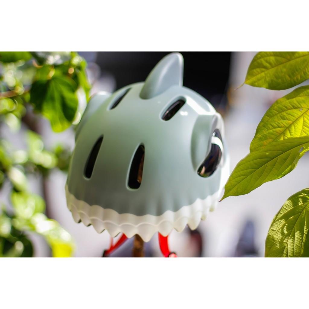 Mũ trẻ em siêu nhẹ xe đạp thể thao BALDER SHARK GREY trẻ em cao cấp có đèn led