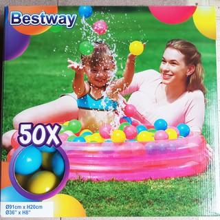 hồ bơi, bể bơi phao 91x20cm, nhà banh kèm 50 banh bestway 51085