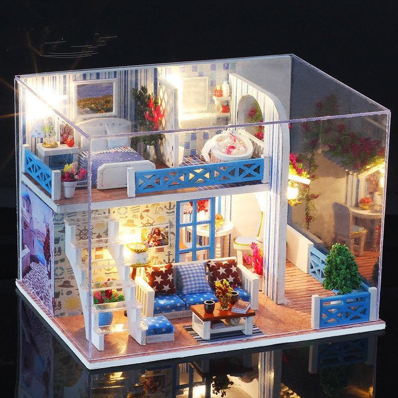 Mô Hình Nhà Búp Bê DIY - Căn Nhà Hoa