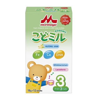Sữa MORINAGA KODOMIL Hương Vani cho bé trên 3tuổi 216Gam thumbnail