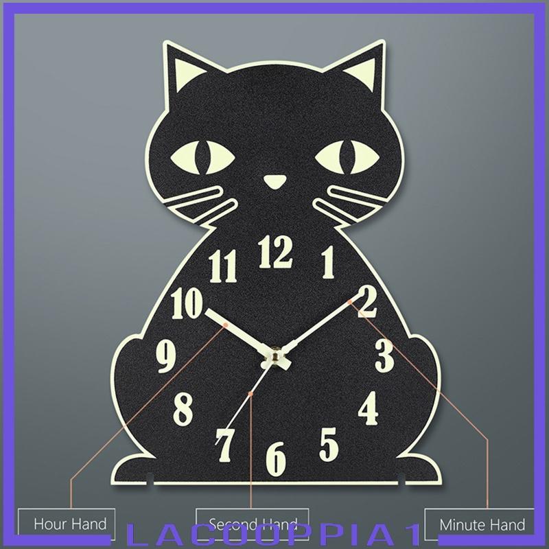"""Đồng Hồ Treo Tường Hình Mèo 12 """"Trang Trí Phòng Ngủ"""