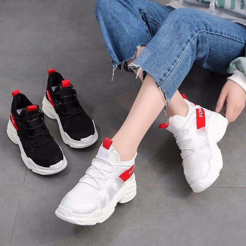 Sneakers thể thao nữ HOT TREND 2 màu đen trắng cực chất