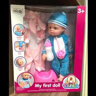 Đồ chơi chăm sóc búp bê em bé sơ sinh