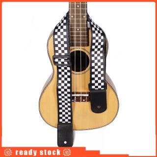 Electric Guitar Strap Black White Plaid Acoustic Guitar Strap Ukulele Bass Strap Guitar Accessories