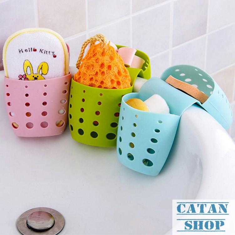 Combo 3 Giỏ treo, rổ treo bọt biển, rổ treo bồn rửa chén, bồn tắm, lavabo tiện lợi GD16-RTDoi-3 (gia